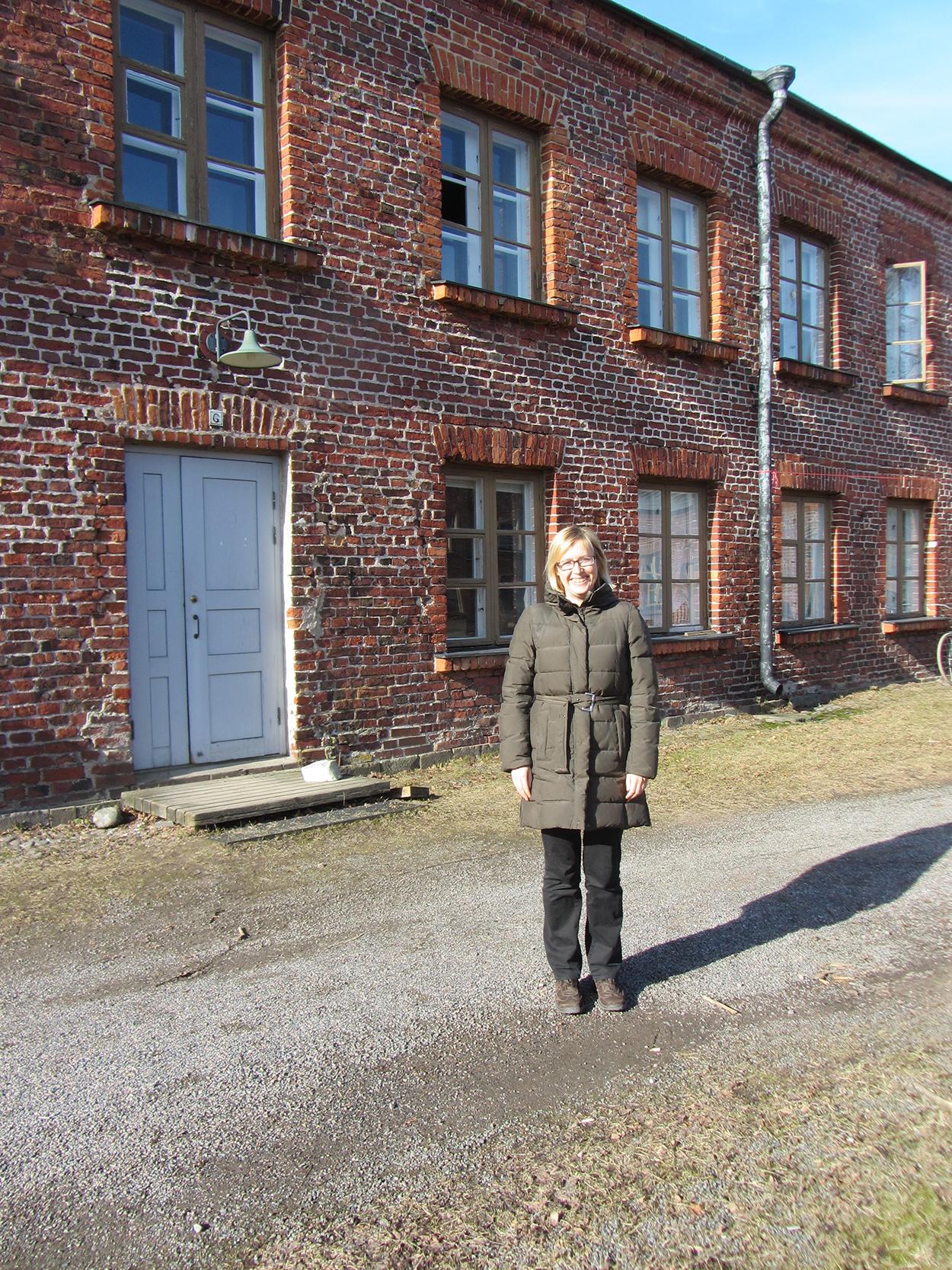 Julija Potrč Suomenlinnassa maaliskuussa 2015.