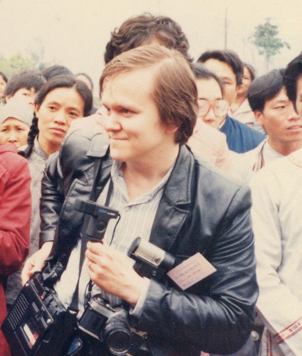 Kenttätöissä San Jiangissa Kiinassa v. 1986.